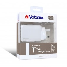 Verbatim 4 Port USB Universal Travel Charger 4.8A