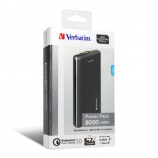 Verbatim Li-polymer QC 3.0 Power Pack 8,000mAh