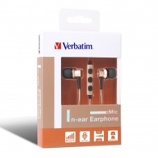Verbatim Metallic In-Ear Earphone with Mic